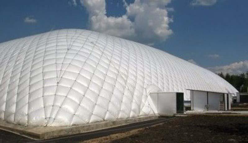 Armazenagem inflável para logística