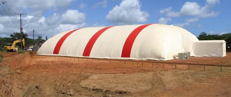 Galpão inflável